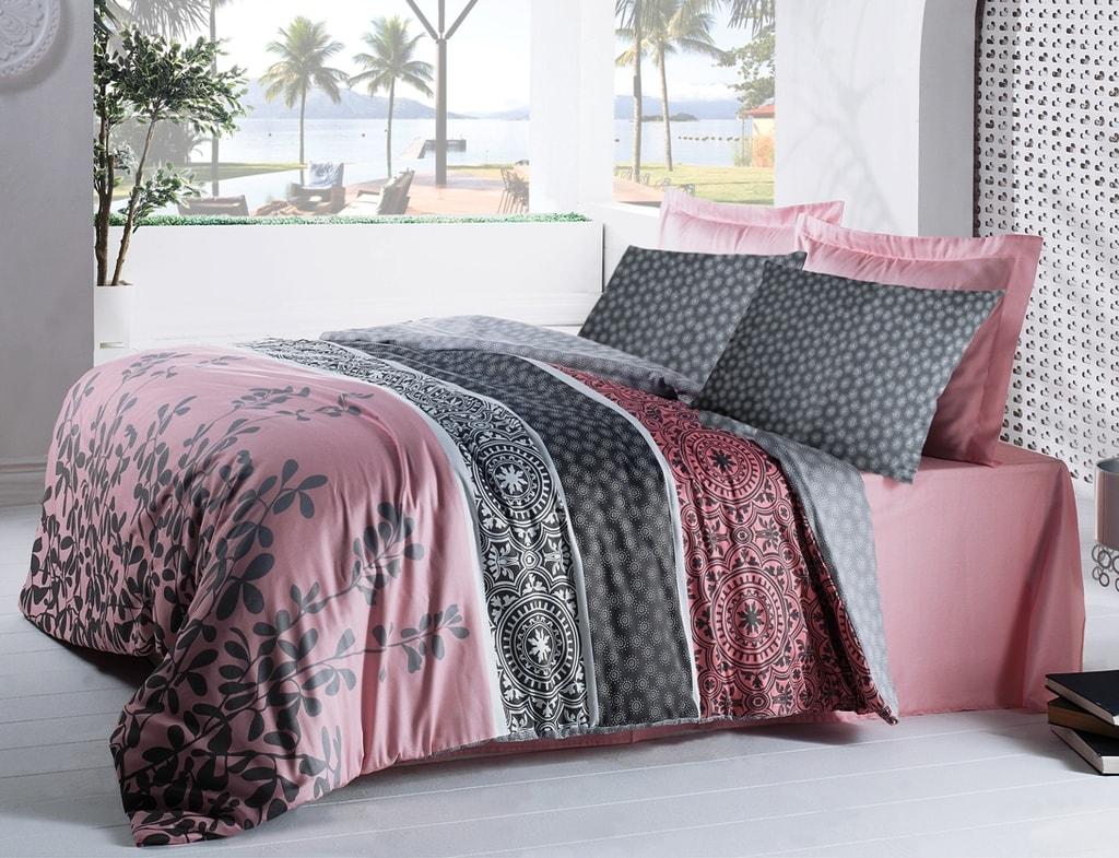 Cottonbox Cottonbox povlečení bavlněný satén Pink Savour - 220x200 / 2x70x90 cm