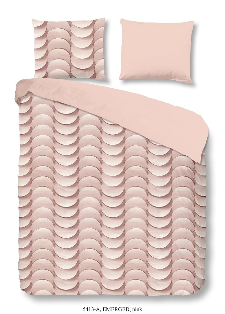 Good Morning 3D povlečení Good Morning 100% bavlna Emerged Pink - 200x200-220 / 2x60x70 cm