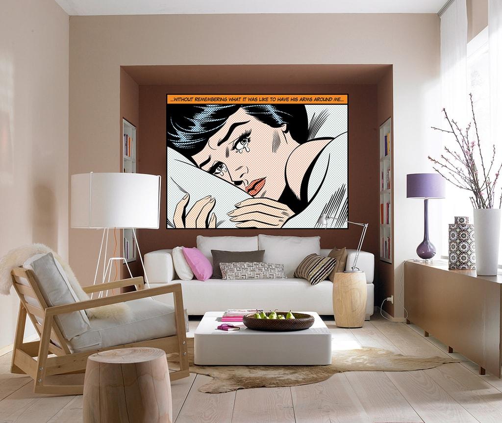 Wizard+Genius W+G Giant Art® Plačící žena II 175x115 cm