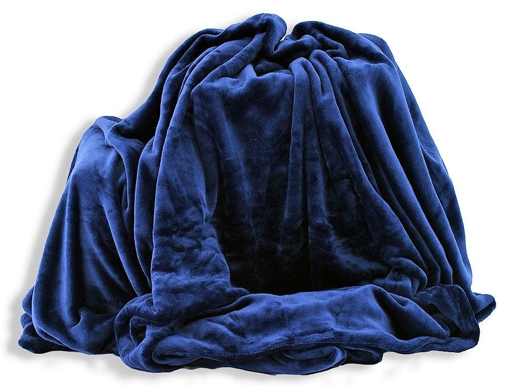 Homeville Homeville deka mikroplyš 150x200 cm tmavě modrá