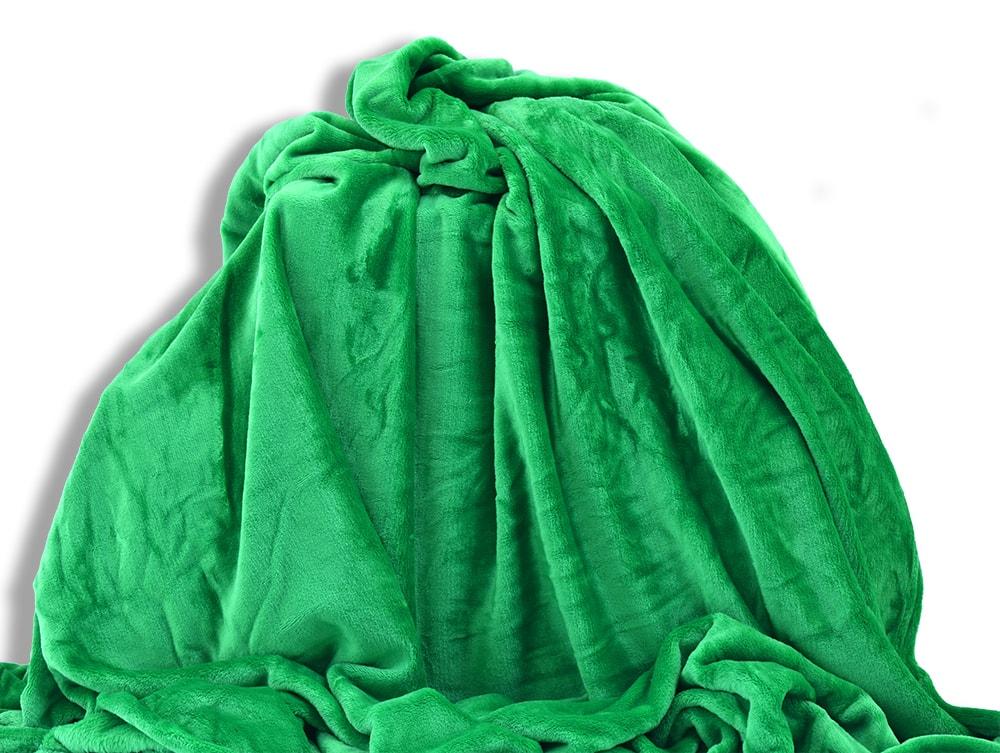 Homeville Homeville deka mikroplyš 150x200 cm zelená