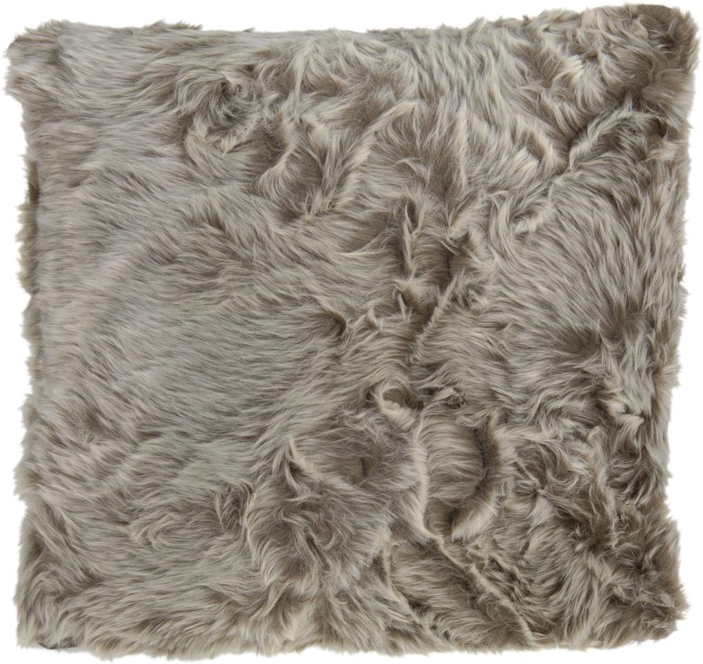 Home collection Dekorační polštářek imitace kožešiny 48x48 cm - Béžová
