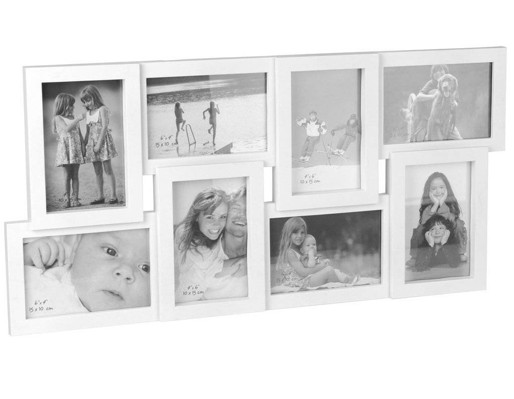 Home collection Rám na 8 fotek 60x30 cm bílá