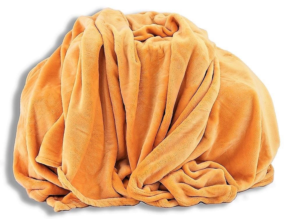 Homeville Homeville deka mikroplyš 150x200 cm medová
