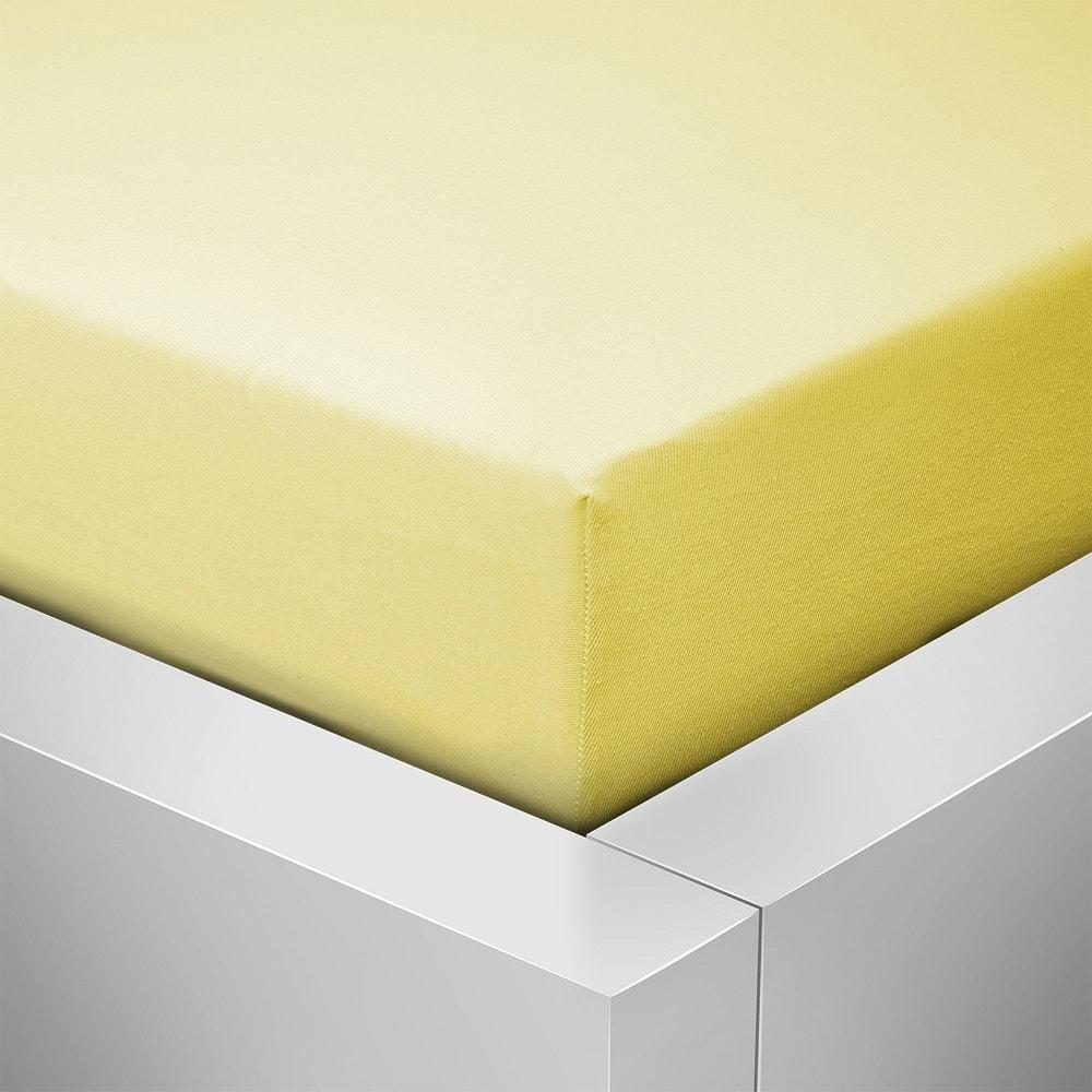 Homeville Homeville jersey prostěradlo české výroby světle žlutá 30cm výška - 140x200 cm