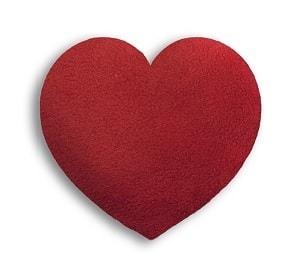 Leschi Hřející polštářek srdíčko malé 14x14cm červené
