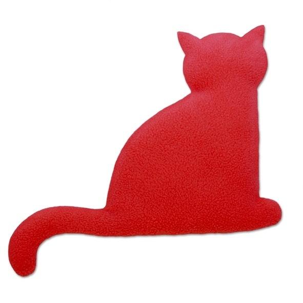 Leschi Hřející polštářek kočka Minina 30x22cm červená/černá