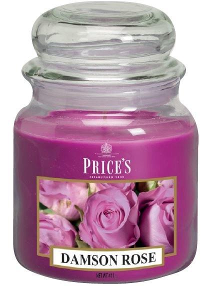 Price´s SIGNATURE MIDI svíčka ve skle Purpurová růže, hoření 90h