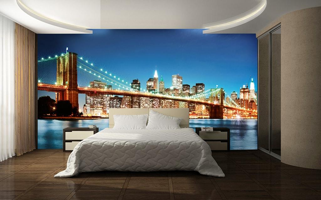 Wizard+Genius W+G vliesová fototapeta New York noční panorama 366x254 cm