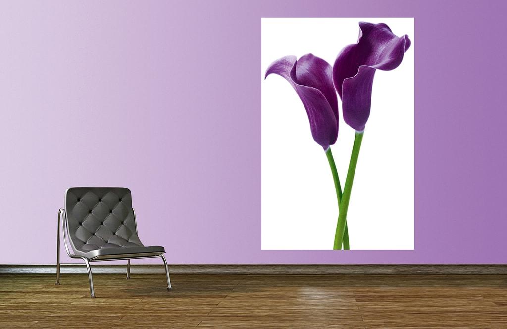 Wizard+Genius W+G Giant Art® Fialové květy 115x175 cm