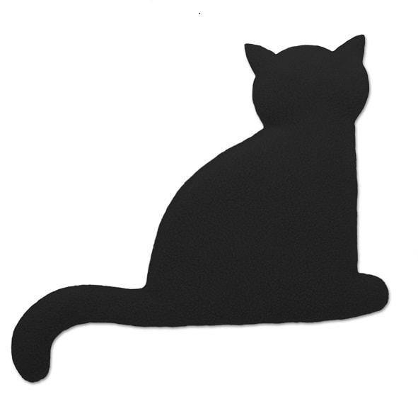 Leschi Hřející polštářek kočka Minina 30x22cm černá/černá