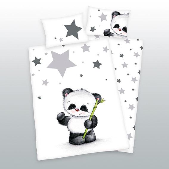 Herding Herding povlečení pro miminka Panda hvězdičky 135x100,40x60