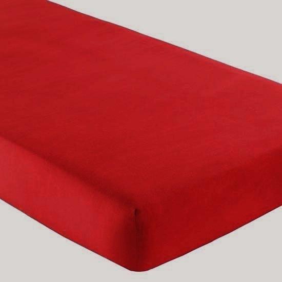 Gipetex Natural Dream Italské prostěradlo s gumičkou 100% bavlna červená v.25cm - 90x200 cm