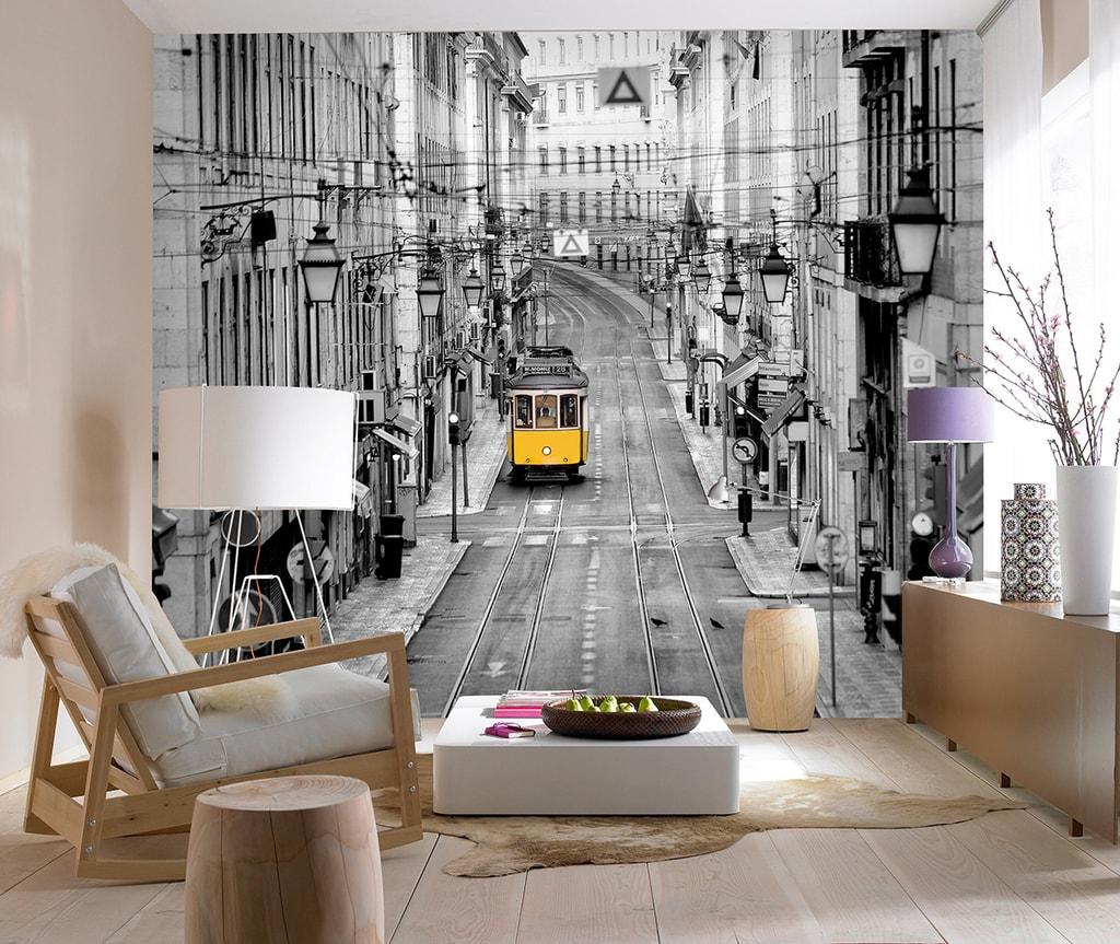 Wizard+Genius W+G vliesová fototapeta Lisabonská ulice 366x254 cm