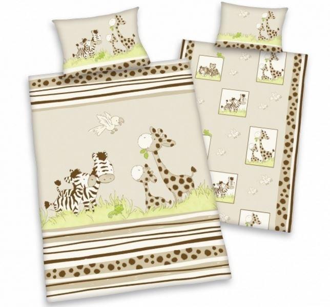 Herding Herding povlečení pro miminka zebra&žirafa 135x100,40x60