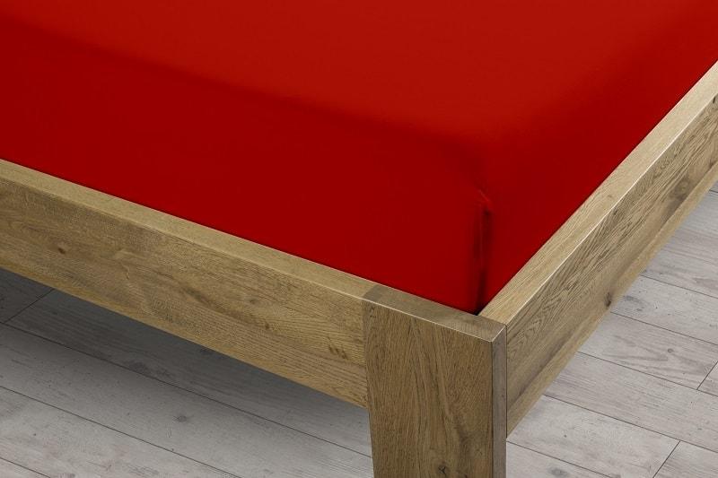 Sintex Prostěradlo Sintex LUX s Lycrou červené v.30cm - 90x200 cm