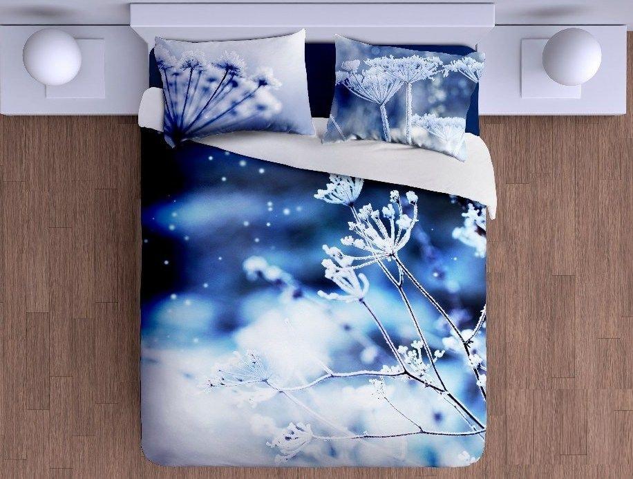 Gipetex Natural Dream 3D italské povlečení 100% bavlna Romantická zima - 140x220cm / 70x90cm