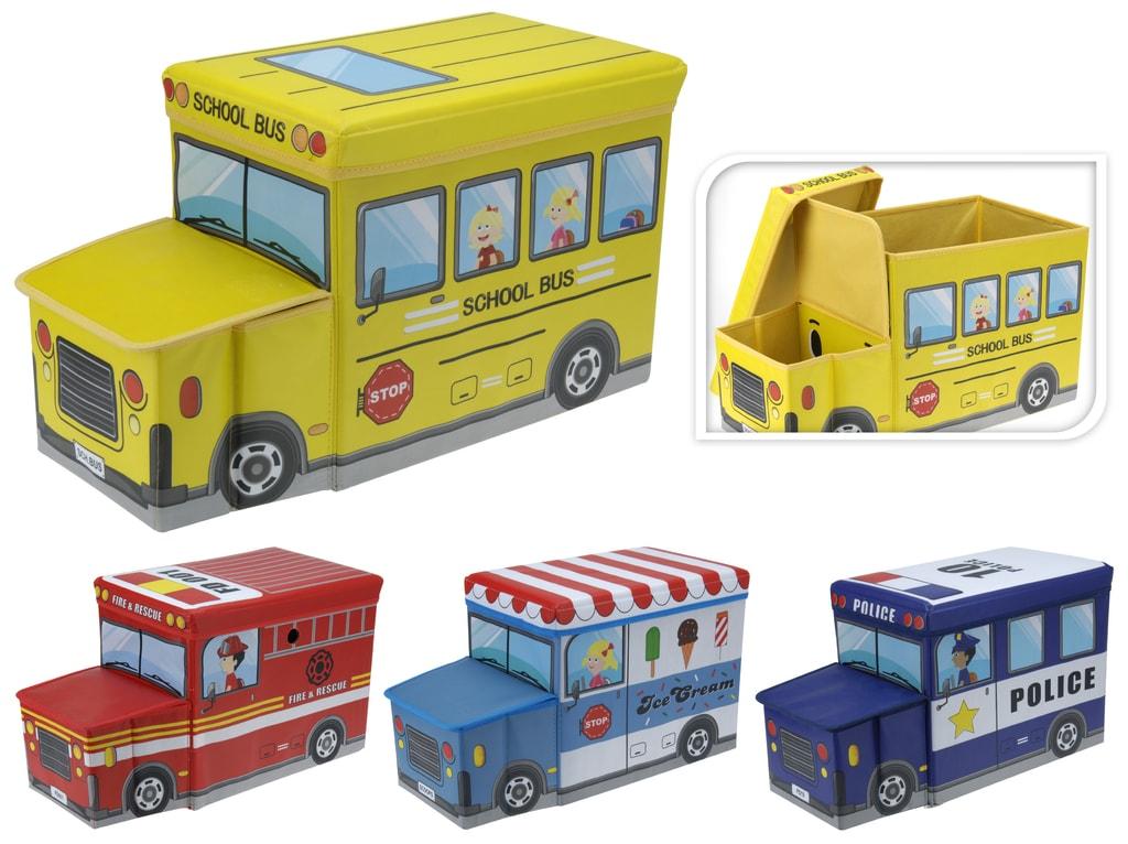 Home collection Skládací box / taburet pro děti 55x26x31 cm - Hasiči