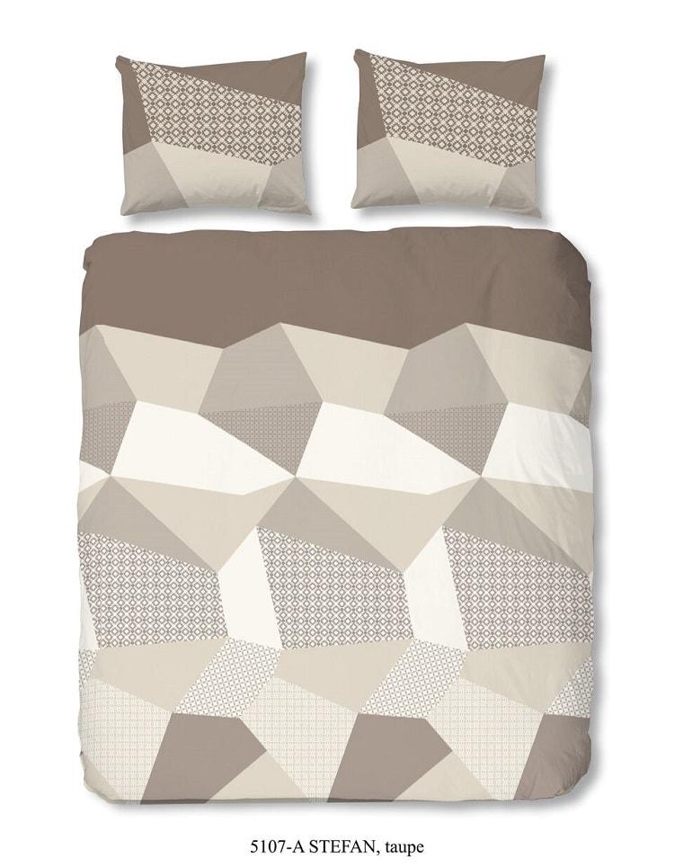 Good Morning 3D povlečení Good Morning 100% bavlna Stefan Taupe - 200x200-220 / 2x60x70 cm