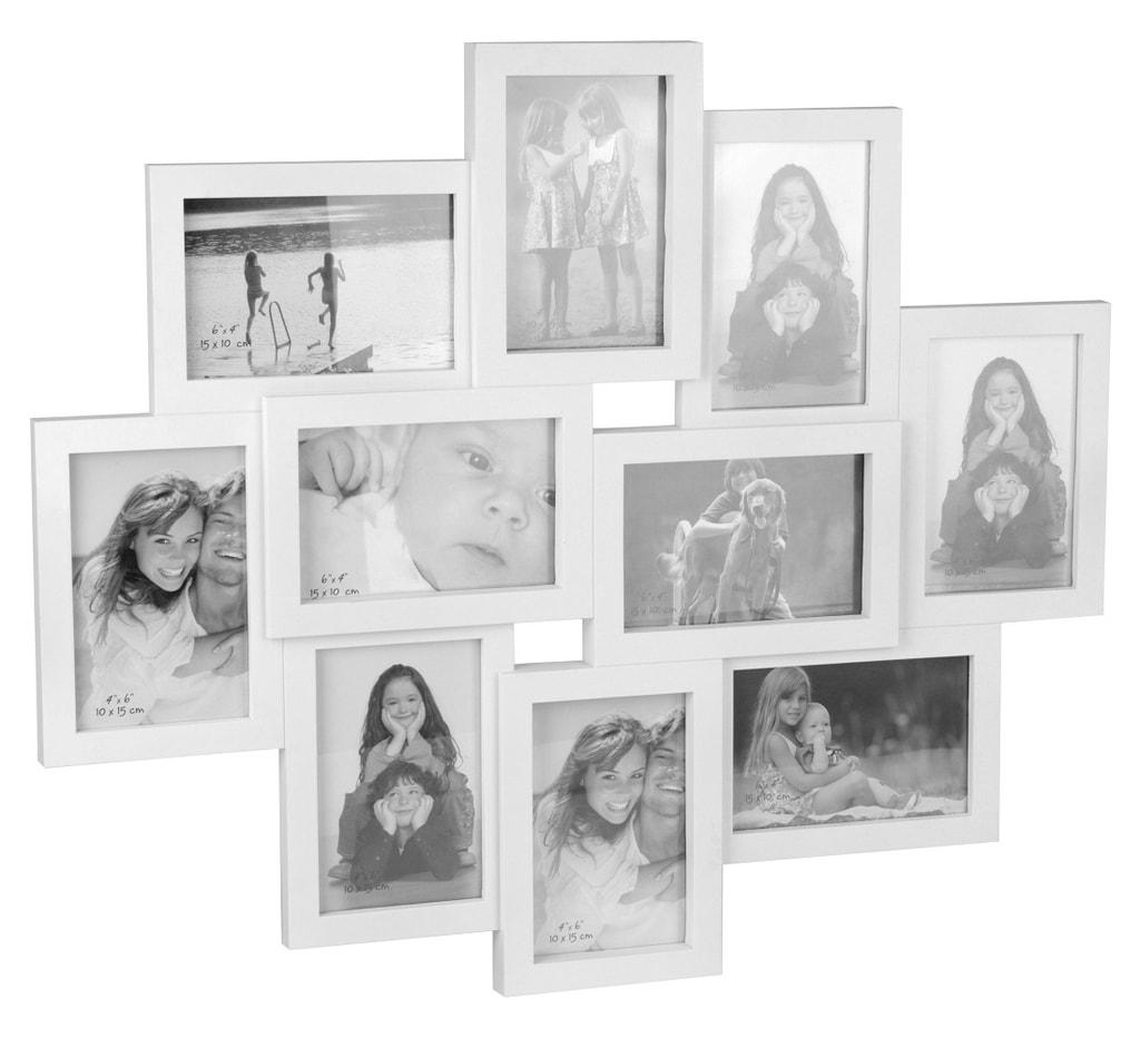 Home collection Rám na 10 fotek 59x50cm bílá