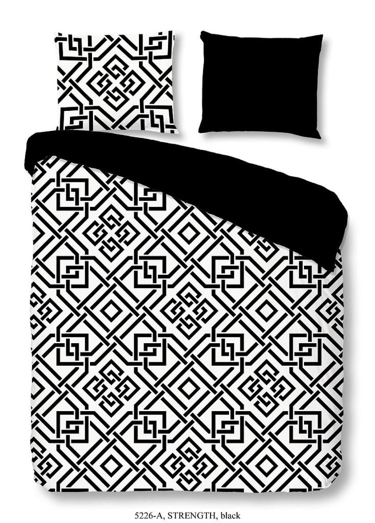 Good Morning 3D povlečení Good Morning 100% bavlna Strenght Black - 200x200-220 / 2x60x70 cm