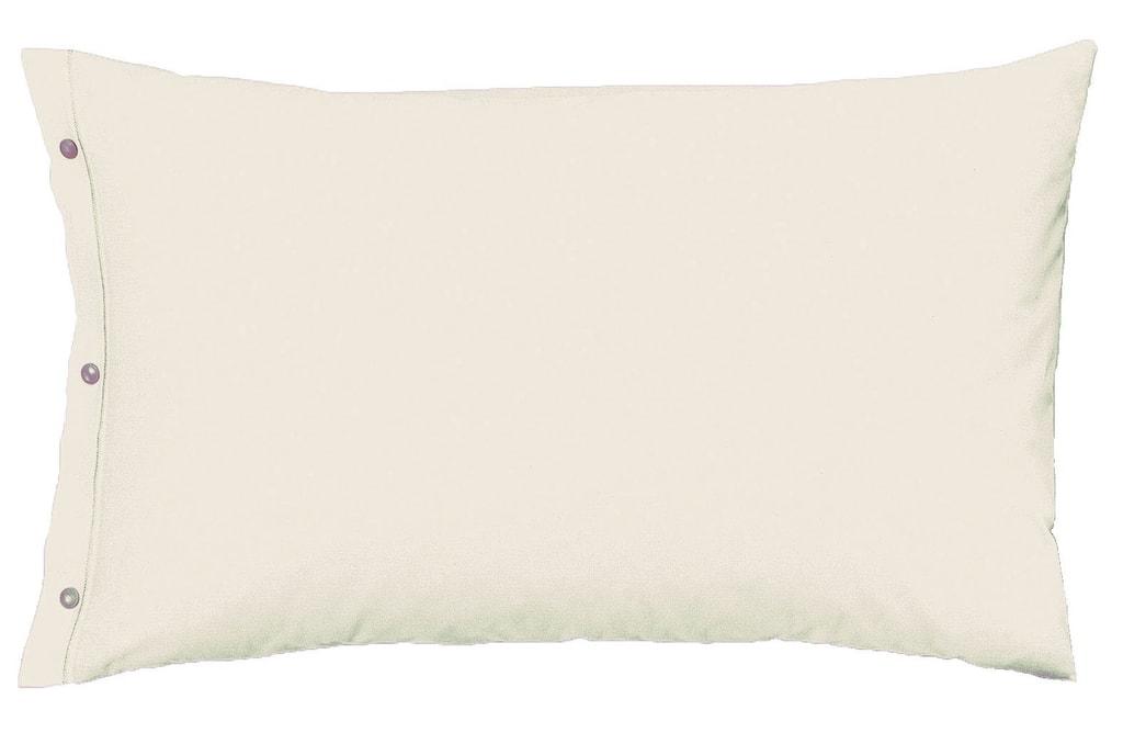 Gipetex Natural Dream Povlak na polštář italské výroby 100% bavlna - 2 ks krémová - 2 ks 70x90 cm