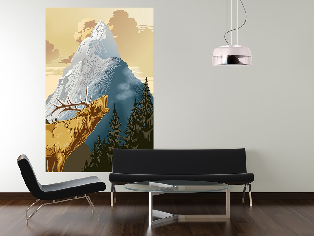Wizard+Genius W+G Giant Art® Jelen 115x175 cm