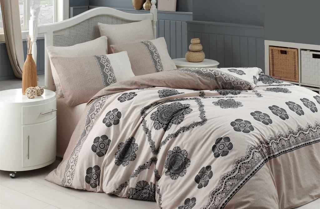 Homeville Povlečení 100% bavlna Cotton lace se dvěma povlaky na polštář - 200x220 / 2x50x70 + 2x70x90