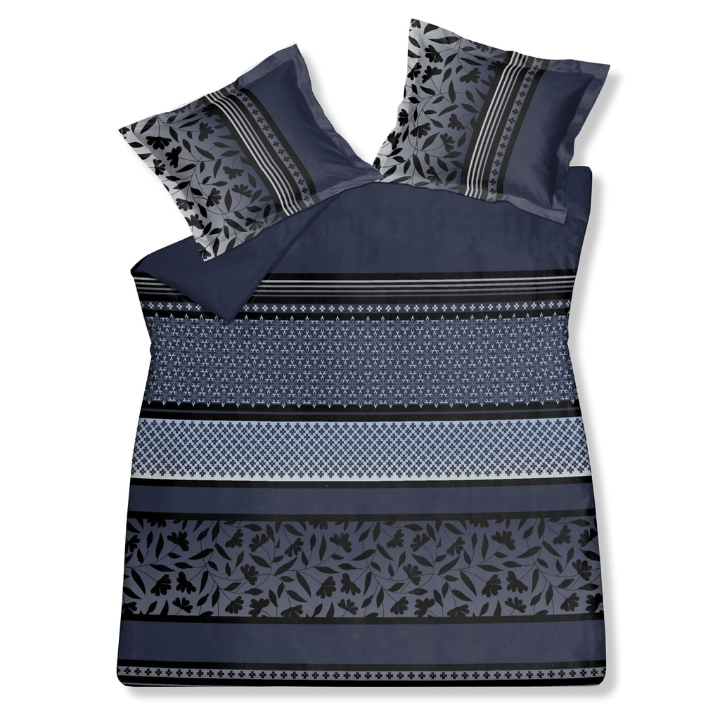 Vandyck Luxusní saténové povlečení VANDYCK Romeo faded denim modrá - 140x200-220 / 60x70 cm