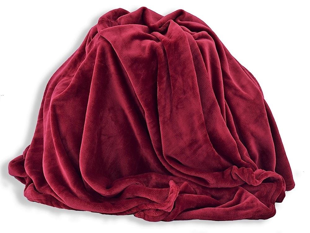 Homeville Homeville deka mikroplyš 150x200 cm vínová