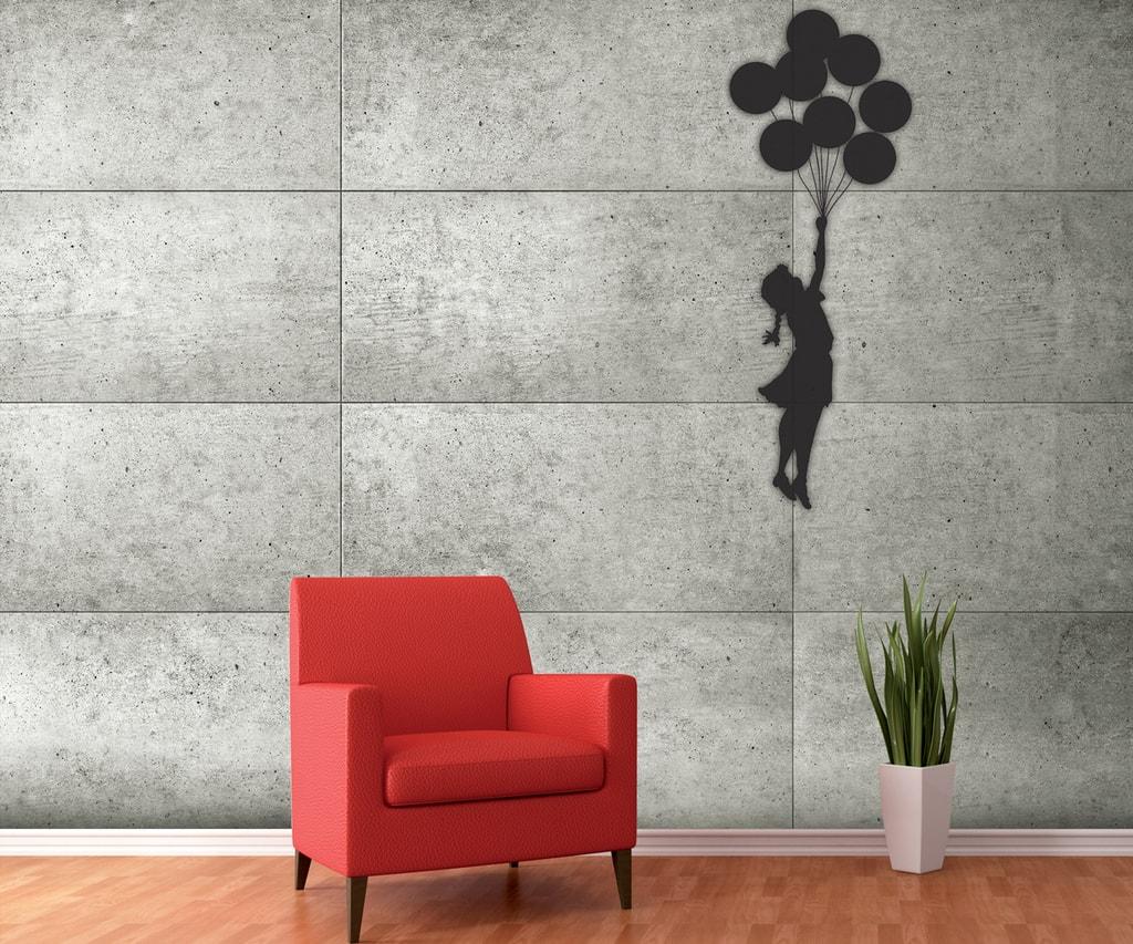 1Wall 1Wall fototapeta Banksyho dívka s balónky 315x232 cm