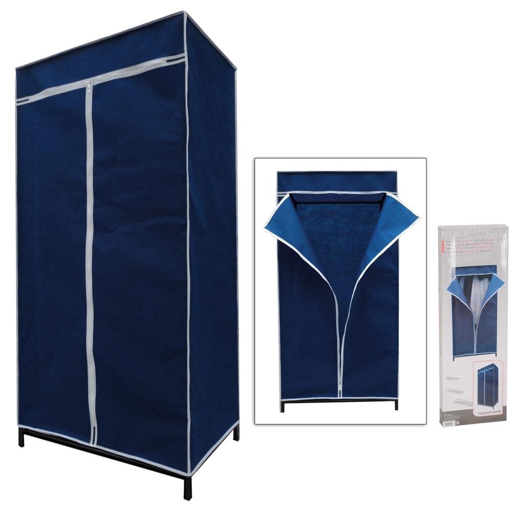 Home collection Textilní skládací skříň ELEGANT 75x160x50 cm - modrá