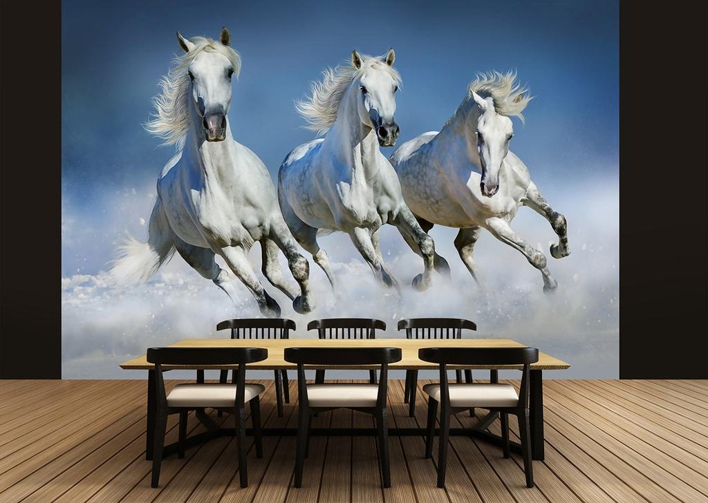 Wizard+Genius W+G fototapeta Bílí koně 366x254 cm