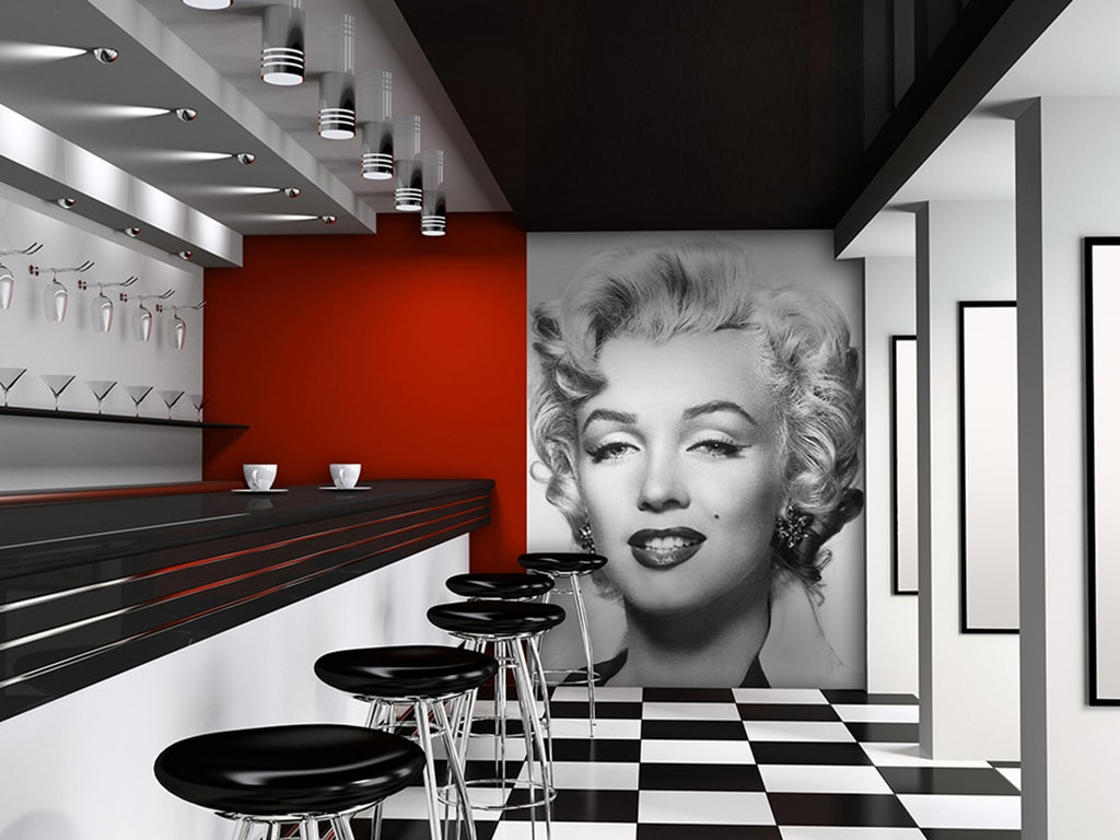Wizard+Genius W+G fototapeta Marilyn portrét čb 183x254 cm