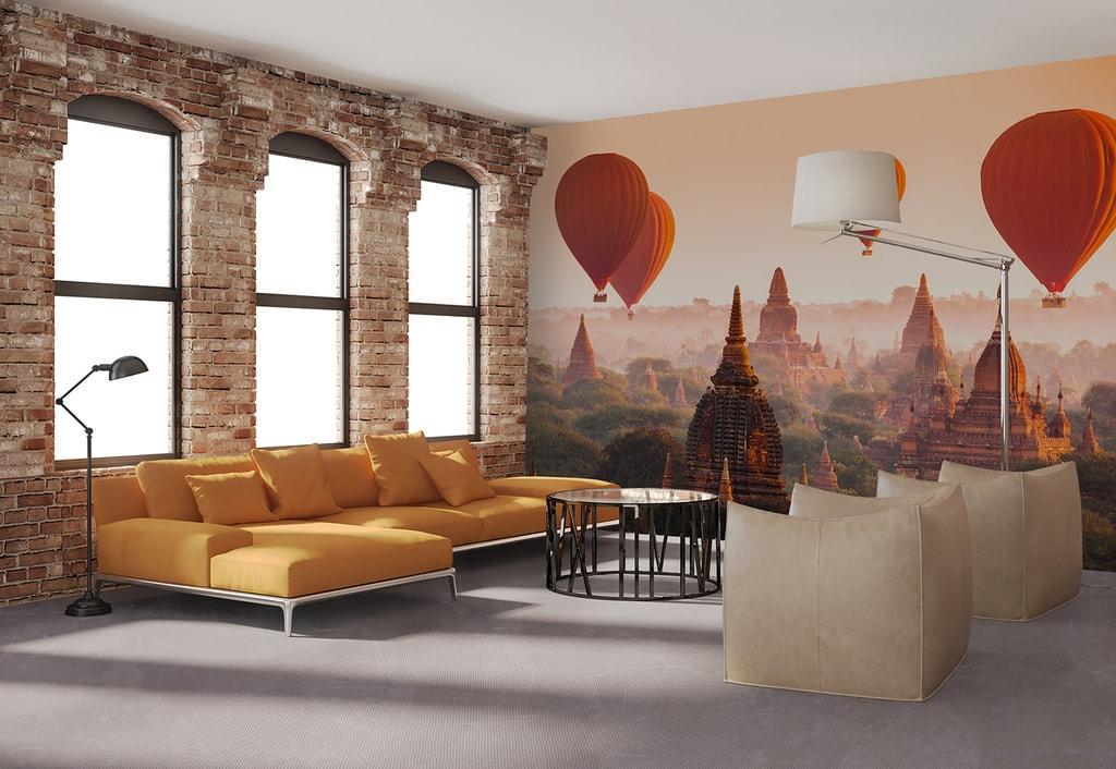 Wizard+Genius W+G vliesová fototapeta Balony nad Baganem 366x254 cm