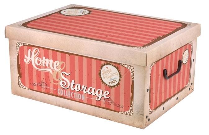 Home collection Úložné krabice Retro 49x39x24cm červená
