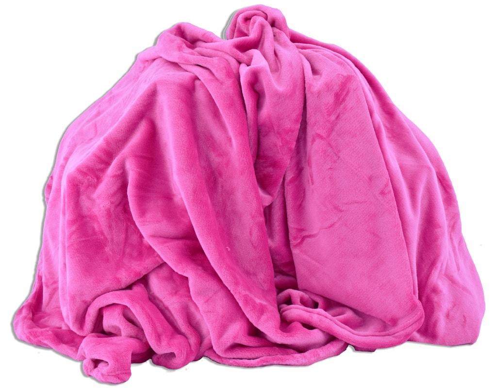 Homeville Homeville deka mikroplyš 150x200 cm růžová