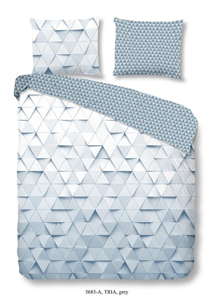 Good Morning 3D povlečení Good Morning 100% bavlna Tria Grey - 200x200-220 / 2x60x70 cm