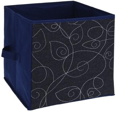 Home collection Dekorativní úložný box 27x27x27cm Lístky
