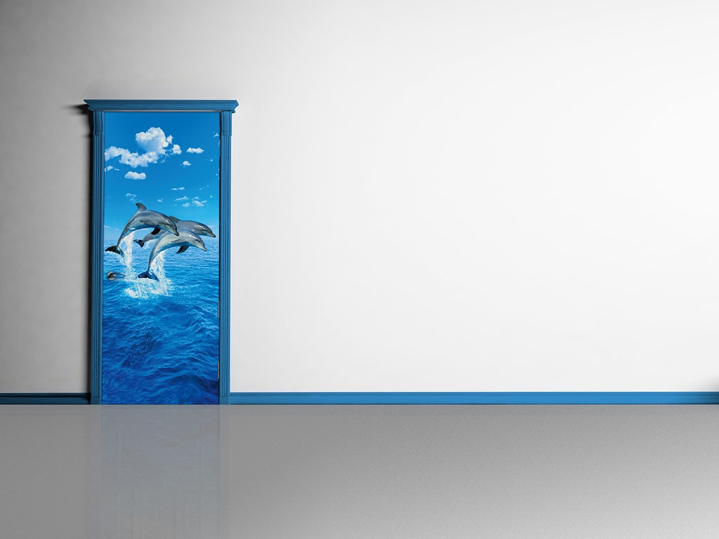 Wizard+Genius W+G fototapeta Tři delfíni 86x200 cm