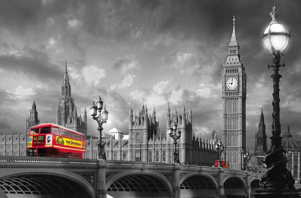 Wizard+Genius W+G Giant Art® Autobus na mostě 175x115 cm