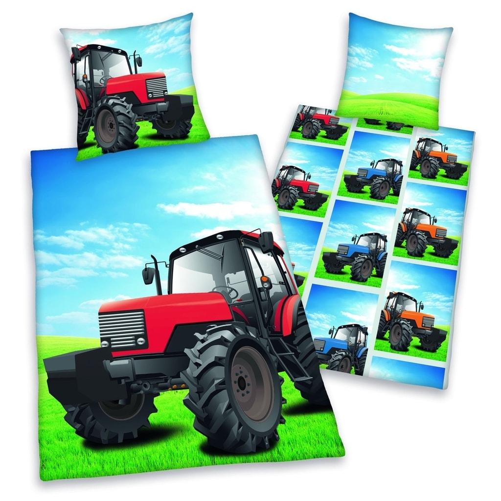 Herding Herding povlečení Traktor 140x200,70x90
