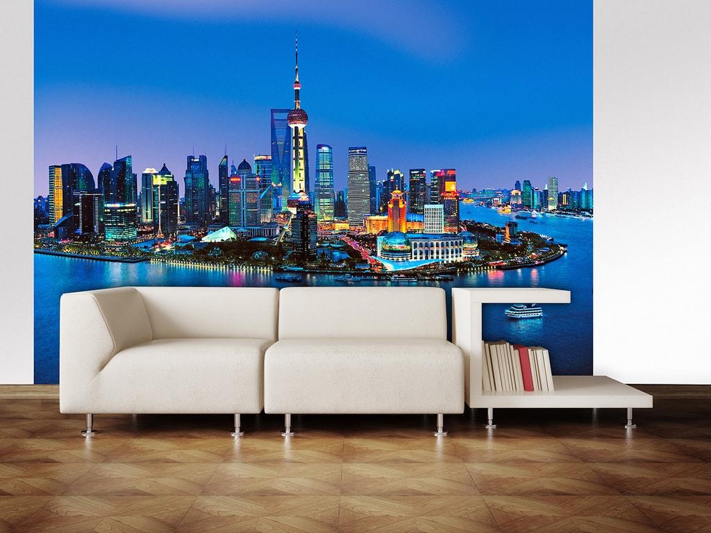 Wizard+Genius W+G fototapeta Šanghaj - panorama 366x254 cm