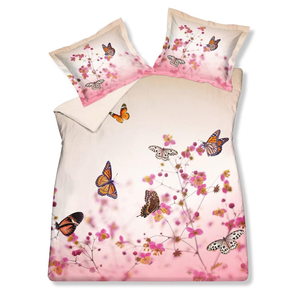 Vandyck Luxusní saténové povlečení VANDYCK Butterfly garden - 200x200-220 / 60x70 cm