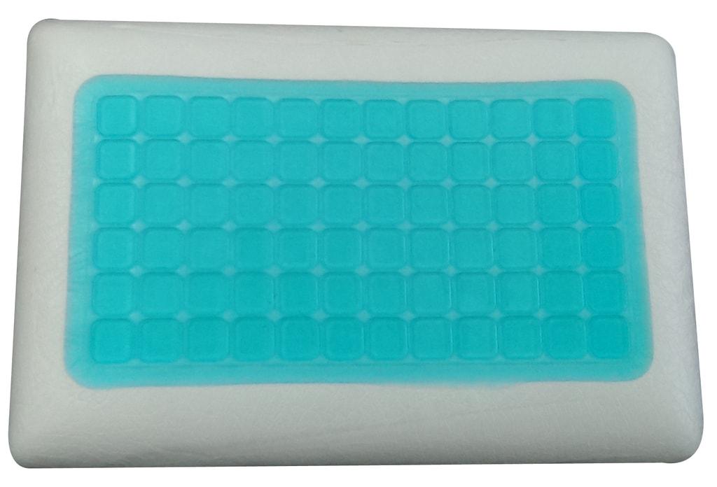 VISCOPUR Anatomický polštář VISCOPUR COOL GEL s gelovou vrstvou neprofilovaný 40x60cm