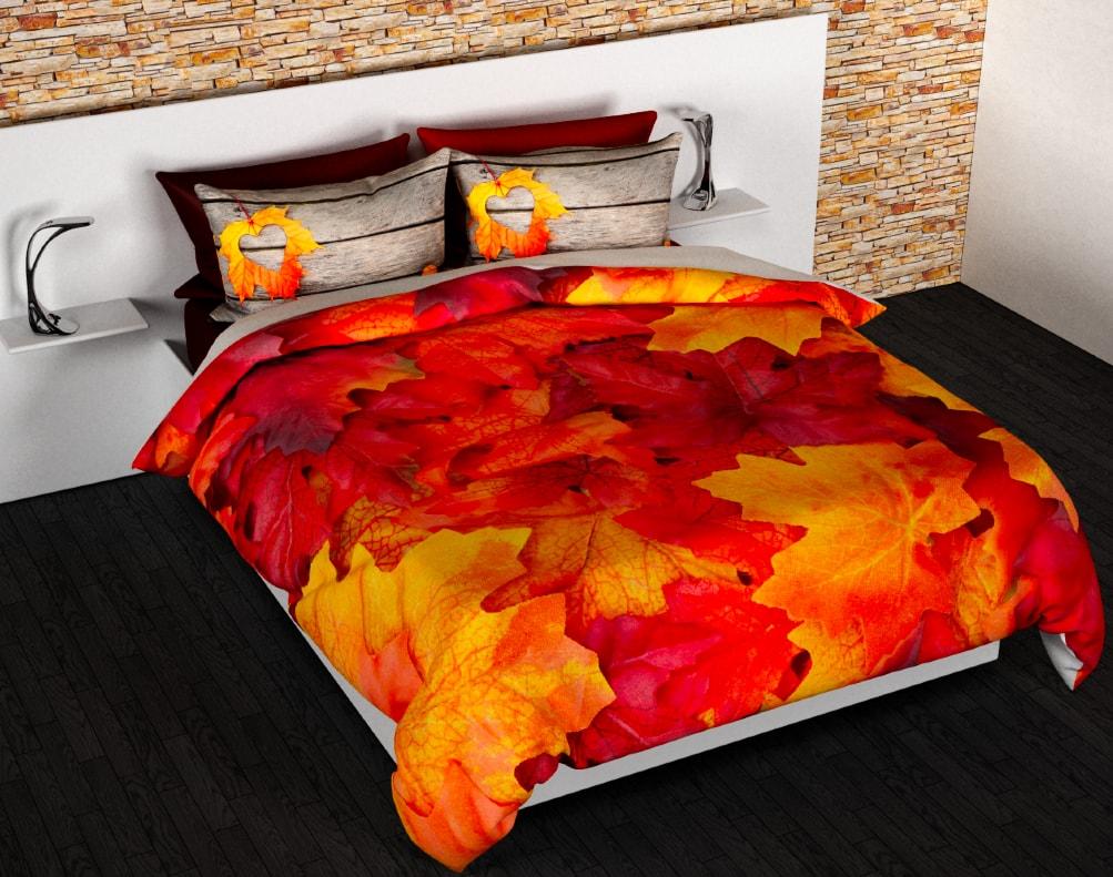 Gipetex Natural Dream 3D italské povlečení 100% bavlna Podzim - 140x220cm / 70x90cm