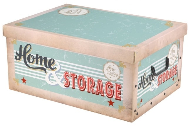 Home collection Úložné krabice Retro 49x39x24cm zelená