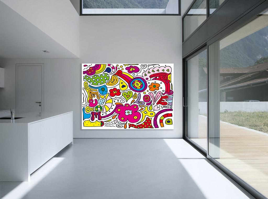 Wizard+Genius W+G vliesová fototapeta Peace & Love 200x160 cm