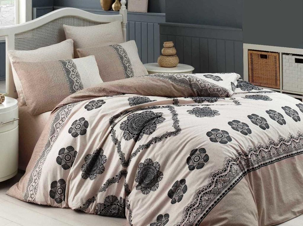 Homeville Povlečení 100% bavlna Cotton lace se dvěma povlaky na polštář - 140x200 / 50x70+70x90