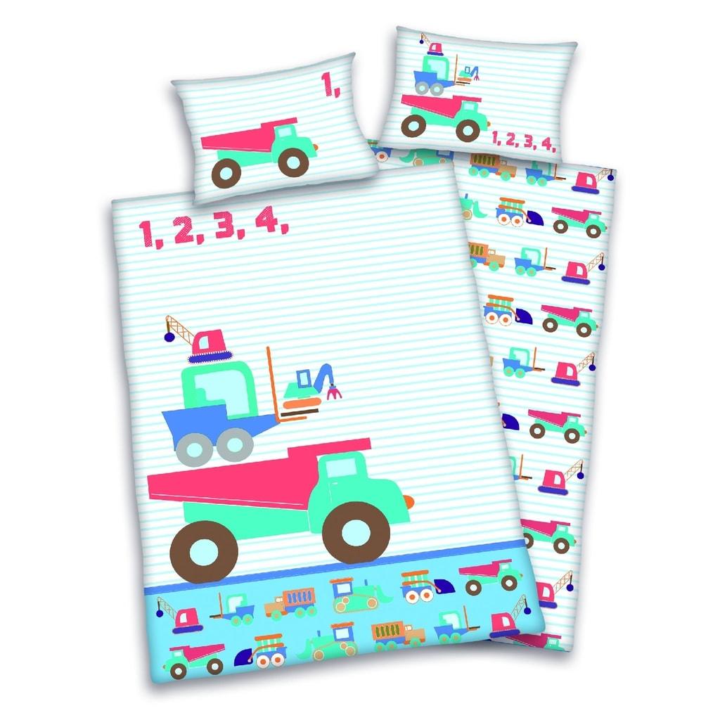 Herding Herding povlečení pro miminka autíčka 135x100,40x60